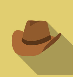 Cowboy hat icon flate singe western icon from the vector