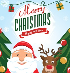Cute christmas card 2 vector image