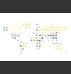 Dotted World map of square dots vector image vector image