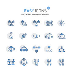 easy icons 06f networks vector image vector image