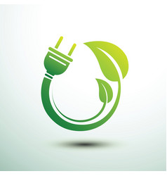 Eco power plug vector