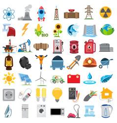 Energetics icons energetics icons set vector