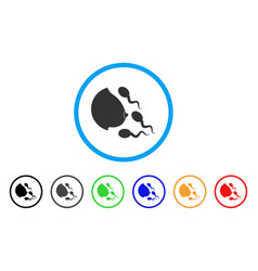 Female breast spermatozoons rounded icon vector