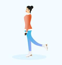 female ice skater vector image