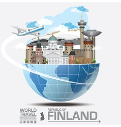Finland landmark global travel and journey vector