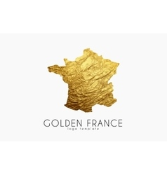 France map golden france logo creative france vector
