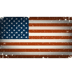 Grunge worn out american flag vector image vector image