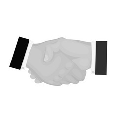 Handshake e-commerce single icon in monochrome vector