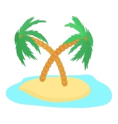 Island icon cartoon style vector