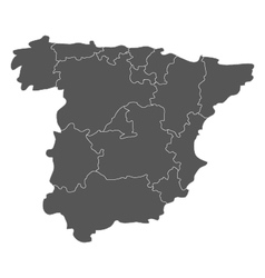 Map of spain with regions vector