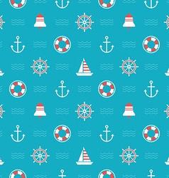 Nautical pattern vector