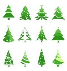 pine tree for Christmas vector image vector image