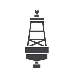 sea buoy icon vector image vector image