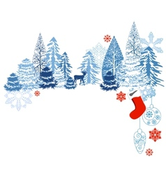 winter blue landscape vector image