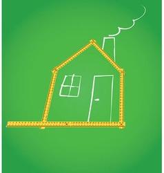 Meter house vector image