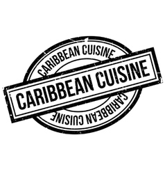 Caribbean cuisine rubber stamp vector