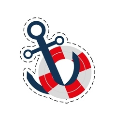 Buoy anchor nautical travel maritime cut line vector