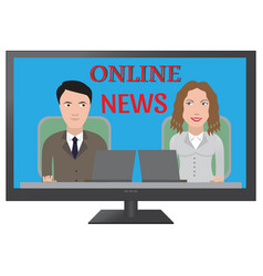 tv latest news vector image
