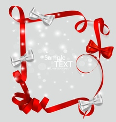 Shiny red ribbon with copy space vector