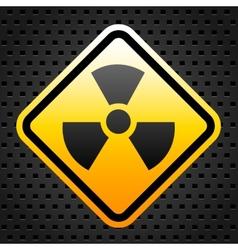 Radiation warning sign vector image