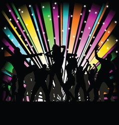 party and disco people vector image