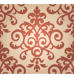 Damask floral pattern the wallpaper in baroque vector