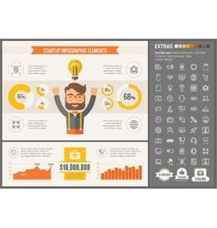 Start up flat design infographic template vector