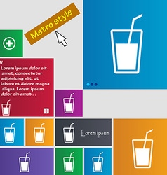 Soft drink icon sign buttons modern interface vector