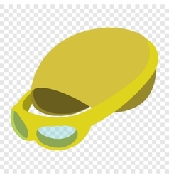 Swimming cap and goggles vector