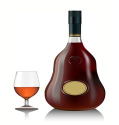 Cognac bottle vector