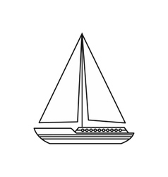 Sea yacht icon outline style vector