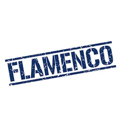 Flamenco stamp vector