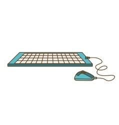 Computer keyboard mouse icon vector