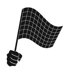 a racing starting and finishing fluttering flag vector image