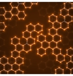 Abstract molecular structures Technology vector image vector image