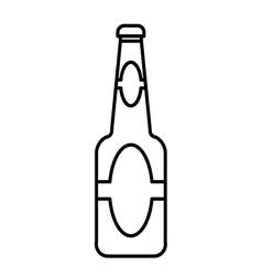 beer bottle outline vector image vector image