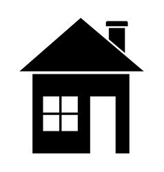 Black home in the simple style vector