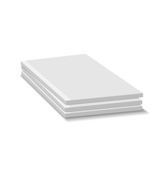 Blank empty magazine or paperback book pile three vector