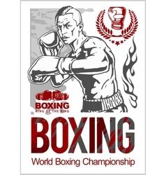Boxing club logo emblem label badge t-shirt vector