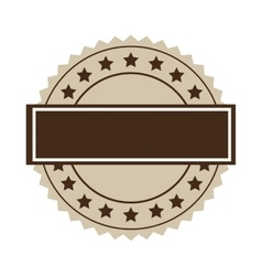 Brown seal stamp vector