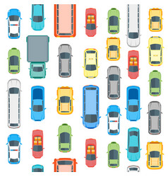 Cars top view background pattern vector