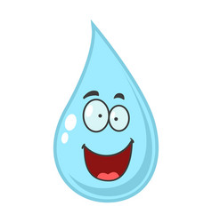 cartoon of water drop vector image