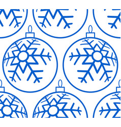 christmas ball pattern vector image vector image