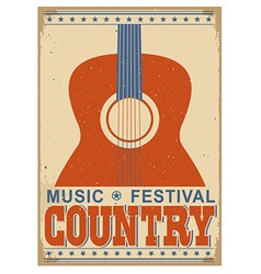Country music festival background with text old vector