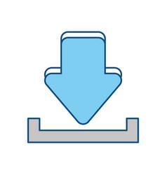 download internet symbol vector image vector image