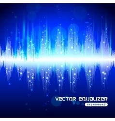 Equalizer blue on dark background poster vector image