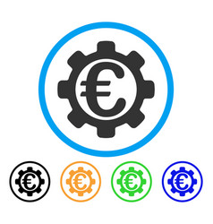 euro options rounded icon vector image vector image