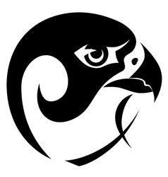 Falcon head symbol vector