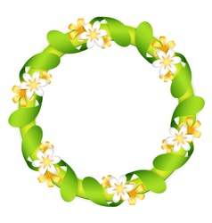 Floral garland isolated on white vector image vector image