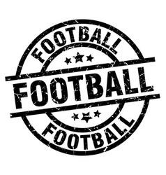 Football round grunge black stamp vector